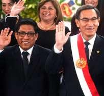 Presidente peruano juramenta nuevos ministros. Foto: AFP