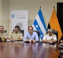 Pedro Pablo Duart dijo que Policía y FFAA vigilarán estado de excepción. Foto: TW Gobernación