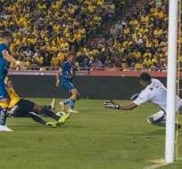 Partido entre BSC y Delfín por Copa Ecuador. Foto: Twitter FEF.