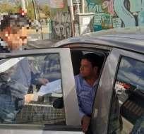 Policía detiene al presidente de la Federación de Taxistas. Foto:  @mariapaularomo