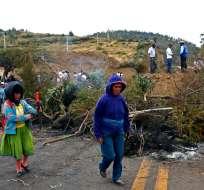Organizaciones sociales aseguran que seguirán protestando. Foto: AFP