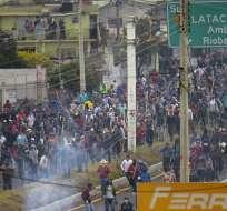 Los aborígenes protestan contras las medidas económicas de Lenín Moreno. Foto: AFP