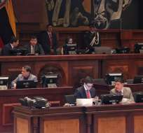 El presidente César Litardo convocó al CAL y a los jefes de bloques legislativos. Foto: API