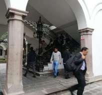 Ocurre debido a las manifestaciones que se aproximan al palacio de gobierno. Foto: Tw@AndreaOrbe5