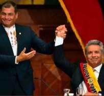 Correa y Moreno antes de que se iniciaran los enfrentamientos entre ambos.