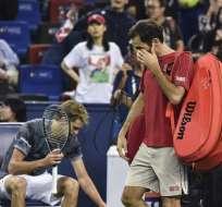 El tenista suizo se peleó con el juez de silla durante el duelo. Foto: HECTOR RETAMAL / AFP