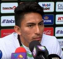 Ángel Mena, delantero 'tricolor'.