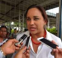 Canciller ecuatoriano dijo que la legisladora no es perseguida política. Foto: ARchivo API