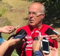 Jorgé Célico entrenador de Ecuador.
