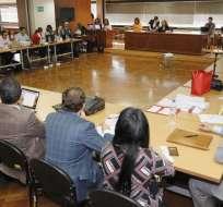 Vinicio Alvarado y Alexis Mera recusaron a jueza y a la fiscal. Foto: Archivo API