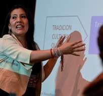Roxana Quispe es una docente universitaria y máster en lingüística. Foto: AFP