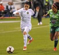 Deportivo Cuenca y su duelo en el Rodrigo Paz Delagado. Foto: Libertadores Femenina.