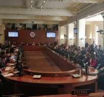 El canciller también responsabilizó de los desmanes a seguidores del expresidente Rafael Correa. Foto: OEA