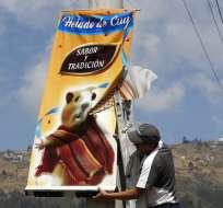 ¿Un heladito? En Ecuador hay sabores de cobayo y escarabajo. Foto: AP