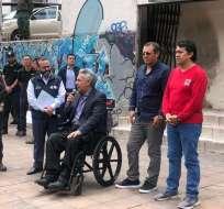 Presidente Moreno entregó primeros préstamos tras fin de violentas protestas. Foto: Denisse Molina
