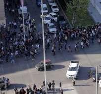 Santiago en caos tras protestas por aumento de tarifa del Metro. Foto: AFP