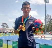 El atleta ecuatoriano venció en los 5000 metros planos en Brisbane, Australia. Foto: Tomada de @DeporteEc