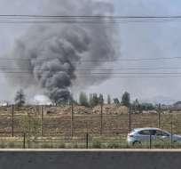 Una fábrica de ropa fue saqueada en Chile. Foto: AFP
