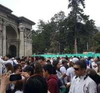 Se realiza la Minga por Quito, para la reconstrucción y recuperación de la 'Carita de Dios'. Foto: API