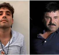 """Se estima que """"El Chapo"""" (derecha) tiene al menos 10 hijos de sus varios matrimonios, entre esos Ovidio (izquierda). Foto: AFP"""