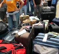 Lo que hizo para no pagar por exceso de equipaje.