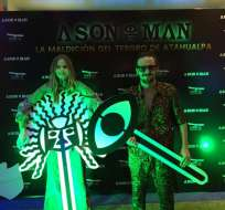 DAULE, Ecuador.- Lily Van Ghemen y Felipe Fernández-Salvador durante el avant-premiere de la cinta. Foto: Ecuavisa.