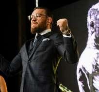 El luchador irlandés luchará en el T-Mobile Arena en Las Vegas, Nevada. Foto: Kirill KUDRYAVTSEV / AFP