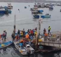 Los pescadores residen en la provincia de Santa Elena. Foto: captura de video
