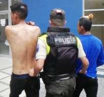 GUAYAQUIL, Ecuador.- Los sujetos fueron capturados con ayuda de la ciudadanía del sector.
