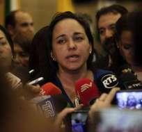 La asambleísta ingresó a la Embajada de México el 12 de octubre. Foto: API