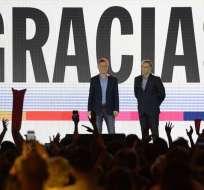 Macri reconoció la derrota e invitó a Fernández a la Casa Rosada. Foto: AFP