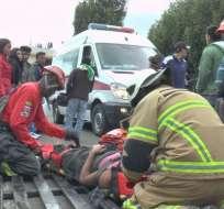 TULCÁN, Ecuador.- Los heridos fueron trasladados al hospital Luis G. Dávila. Foto: Paola Andrade