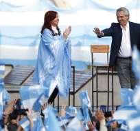 Fernández gana en primera vuelta en Argentina. Foto: AP