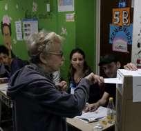 BUENOS AIRES, Argentina.- Se prevé una alta participación de la ciudadanía en estas votaciones. Foto: AFP