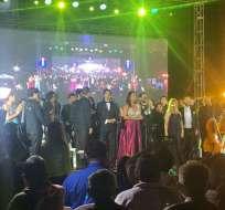 Un concierto en honor a los 199 años de Independencia de Guayaquil, al pie de la Columna de los Próceres.