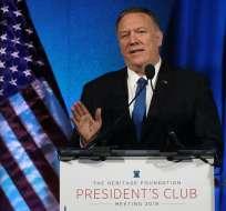Mike Pompeo expresó su compromiso con las prácticas democráticas. Foto: MARK WILSON / GETTY IMAGES NORTH AMERICA / AFP