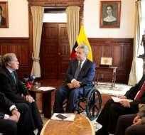 QUITO, Ecuador.- Almagro apoyó el diálogo que el régimen mantuvo con organizaciones sociales tras el paro. Foto: Presidencia