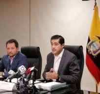 QUITO, Ecuador.- El ministro Richard Martínez reveló los datos del presupuesto. Foto: Ministerio de Finanzas