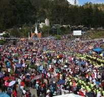 Miles de fieles en la peregrinación de la Virgen del Cisne. Foto: API