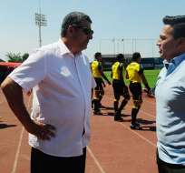 El entrenador de Universidad Católica se molestó por la derrota ante América de Quito. Foto: API