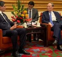 Se suscribió un acuerdo para capacitación académica y de idiomas con China.  Foto: Cancillería