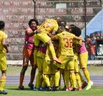 Los 'amarillos' vencieron 2-1 al Olmedo de Riobamba en condición de visitante. Foto: API