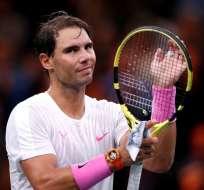 Rafael Nadal luego de un duelo de tenis.