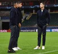 Cristiano Ronaldo junto a sus compañeros. Foto: Twitter Juventus.