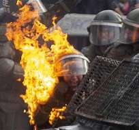 Santiago, el domingo 4 de noviembre. Foto: AFP