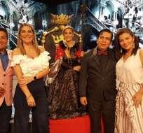 GUAYAQUIL, Ecuador.- Henry Bustamante, Gaby Díaz, Marián Sabaté, Angello Barahona y Samantha Grey. Foto: Ecuavisa