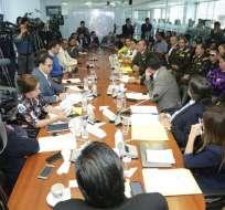 También acudieron alcalde de Quito y asambleísta detenido Yofre Poma. Foto: Twitter Asamblea