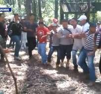 Se indaga ilegal entrenamiento de fuerzas de choque del correísmo. Foto: Captura de video