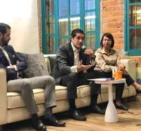 El ministro de Economía y Finanzas, Richard Martínez, durante un evento con emprendedores. Foto: Finanzas