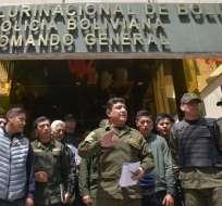 Fuerzas Armadas piden a Evo Morales renunciar. Foto: AFP